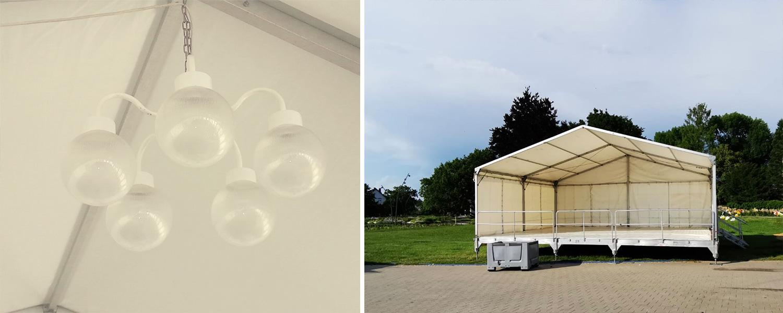 Bühne mit Zelt